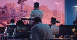Team of operators controlling Mars rover remotely