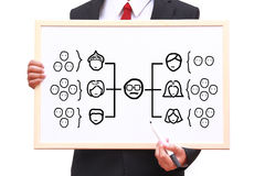 Team organization chart Royalty Free Stock Photos