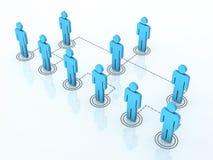 Team organization chart. 3d render team organization chart (close-up Royalty Free Stock Photography