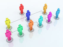 Team organization chart. 3d render team organization chart colorful (close-up Stock Photo