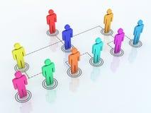 Team organization chart. 3d render team organization chart colorful (close-up Stock Photo