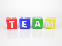 Team out of Letter Dices Stock Image