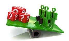 Team outweighs cubes issues Stock Images