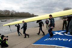 Team Oxford University before annual boat race Stock Photo