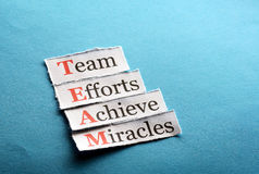Team paper Royalty Free Stock Photo