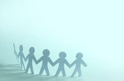 Team of paper doll people Royalty Free Stock Photography
