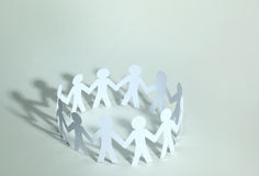 Team of paper doll people Stock Photography