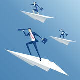 Team and paper plane Royalty Free Stock Image