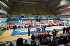 Team of participants, judges, spectators Stock Images