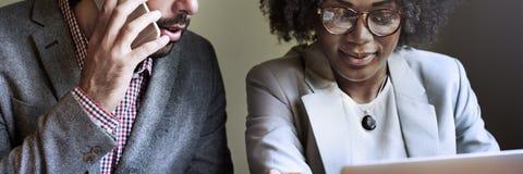 Team Partner Business Discussion Communication-Concept Stock Foto's