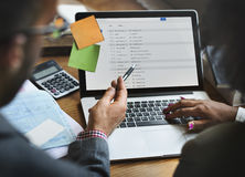 Team Partner Business Discussion Communications-Konzept Lizenzfreies Stockfoto
