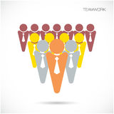 Team Partners Friends sign design vector template. Royalty Free Stock Image