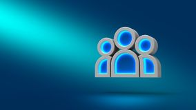 Team people on blue background. 3d illustration. Set for design presentations. Team people on blue background. 3d illustration. Set for design presentations Royalty Free Stock Photos