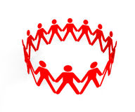 Team of people in a circle forming a whole group Royalty Free Stock Photography