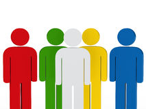 Team people colorful with leader. 3d business team people colorful with leader Stock Illustration