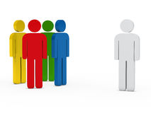 Team people colorful with leader. 3d business team people colorful with leader Royalty Free Illustration