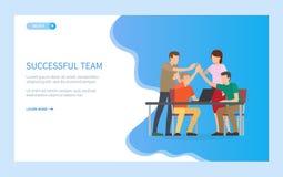Team People Happy acertado a trabajar junto stock de ilustración