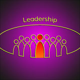 A team of people with a leader. Leadership. Business concept. Vector Stock Image