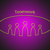 A team of people. Teamwork business concept. Vector Royalty Free Stock Images
