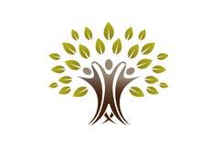 Team People Tree Logo creativo illustrazione di stock