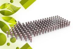 Team-Pfeilillustration der Männer 3d Lizenzfreies Stockfoto