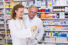 team of pharmacist talking together about medication royalty free stock image - Pharmacist Trainee