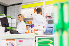 Team of pharmacists working together Royalty Free Stock Photos