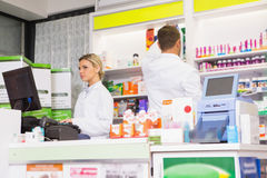 Team of pharmacists working together Royalty Free Stock Image