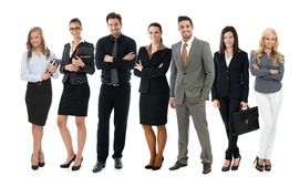 Team photo of young businesspeople Royalty Free Stock Image