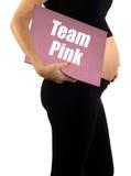 Team pink pregnancy royalty free stock photo