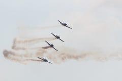 Team Pionner Aerobatic Show Royalty Free Stock Photos