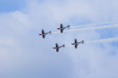 Team Pionner Aerobatic Show Royalty Free Stock Photo