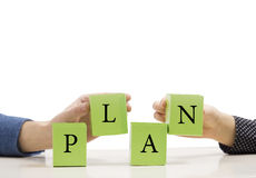 Team Plan Bussines Imagens de Stock Royalty Free