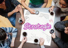 Team planning a strategy together Royalty Free Stock Image