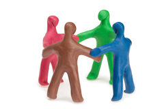 Team plasticine people Royalty Free Stock Images