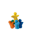 Team of plasticine people Royalty Free Stock Photography