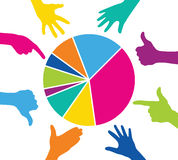 Team play with colorful pieces graph. Corporate strategy and cooperation Royalty Free Stock Images