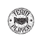 Team player rubber stamp Royalty Free Stock Images