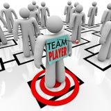 Team Player Targeted i organisatorisk Org diagramteamwork Arkivfoto