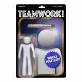Team Player Valued Member Worker Action Figure. 3d Illustration Royalty Free Stock Images