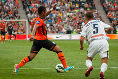 Team players Shakhtar (Donetsk) and Metallurg (Donetsk) Royalty Free Stock Photos