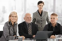 Team portrait of businesspeople Royalty Free Stock Photography