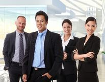 Team portrait of happy business people Stock Photos