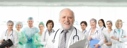 Team portrait of medical professionals stock photo