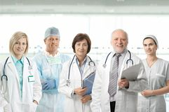 Team portrait of medical professionals Stock Images