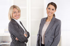 Team Portrait: Successful business woman making career in manage stock images