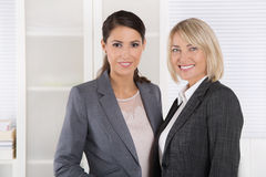 Team Portrait: Successful business woman making career in manage royalty free stock images