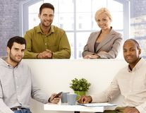 Team portrait of young businesspeople royalty free stock photography