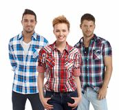 Team portrait of young casual people Royalty Free Stock Photos