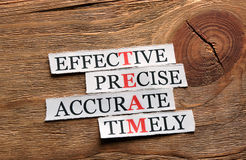 Team precise  acronym Stock Image